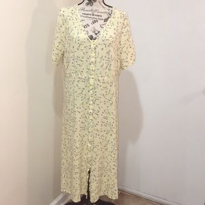 H&M Yellow Floral Dress